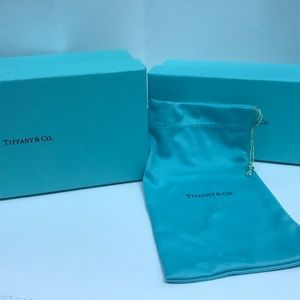 Tiffany Co. Boxes and soft case